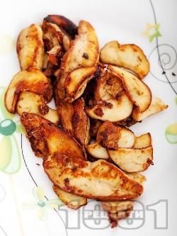 Пържени гъби манатарки в масло на тиган за предястие или гарнитура - снимка на рецептата
